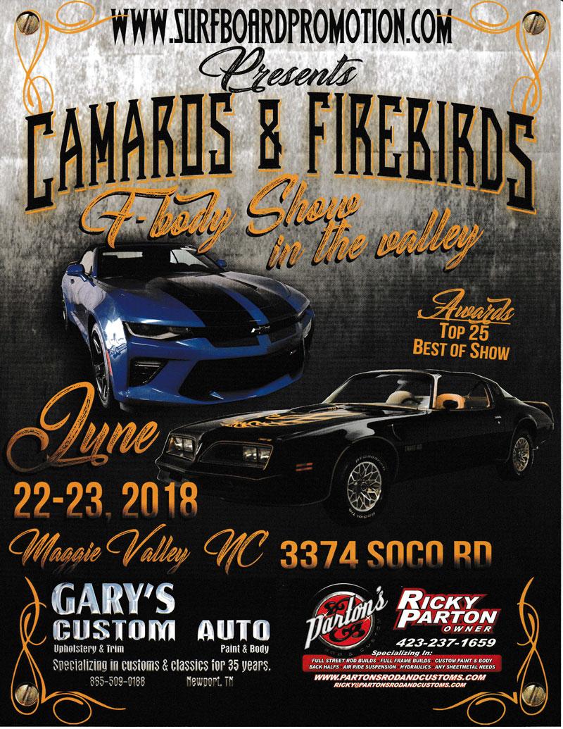 Camaros & Firebirds Car Show - Maggie Valley Festival Grounds